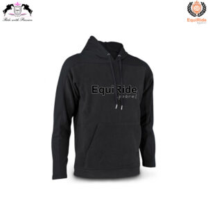 Black Men's Pullover Hoodies Sweatshirts Equestrian Fashion CRW-HOD-009