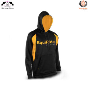 Black Yellow Men's Pullover Hoodies Sweatshirts Equestrian Fashion CRW-HOD-010