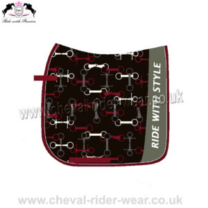 Beautiful Digital Printed Dressage Saddle Pads Horse Riding CRW-1979 Pattern