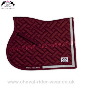 Burgundy Shiny Satin Quilted Saddle Pads Horse Riding CRW-1980