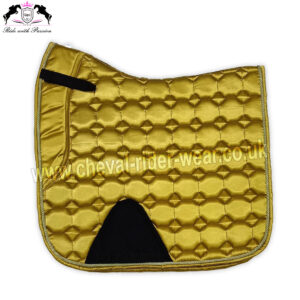 Golden Shiny Satin Saddle Pads Horse Riding CRW-1981