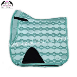 Ice Blue Shiny Satin Saddle Pads Horse Riding CRW-1981