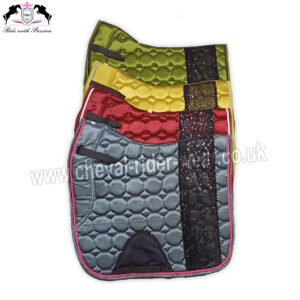 Bling Bling Shiny Satin Saddle Pads Horse Riding CRW-1982