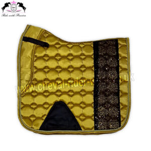 Bling Bling Shiny Satin Saddle Pads Horse Riding CRW-1982 Golden