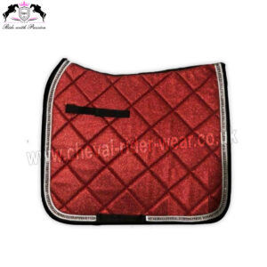 Burgundy Glitter Saddle Pads All Over Sparkle Saddle Pads Dressage Burgundy CRW-1983
