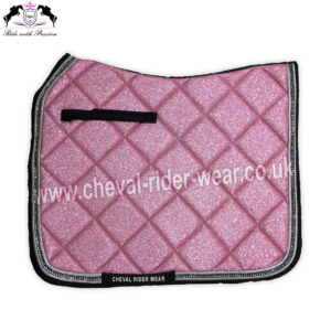 Pink Glitter Saddle Pads All Over Sparkle Saddle Pads Dressage Pink CRW-1984