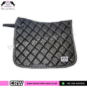 Luxury Floral Pattern Dressage Saddle Pads CRW-1985 Black