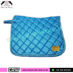 Luxury Floral Pattern Dressage Saddle Pads CRW-1985 Blue