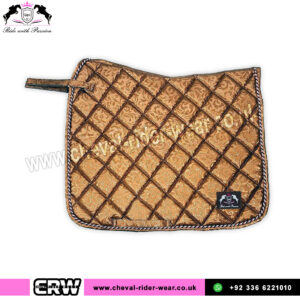 Luxury Floral Pattern Dressage Saddle Pads CRW-1985 Brown