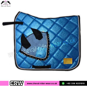 Luxury Floral Pattern Matchy Matchy Saddle Pad Sets CRW-MAT23-Blue