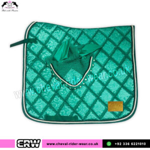 Luxury Floral Pattern Matchy Matchy Saddle Pad Sets CRW-MAT23-Green