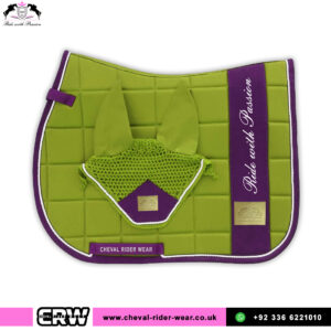 Luxury Matching Saddle Pad Sets CRW-MAT25 Olive Green