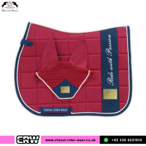 Luxury Matching Saddle Pad Sets CRW-MAT25 Burgundy