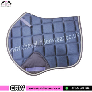 Air Mesh Jumping Saddle Pads Navy Blue CRW-1986