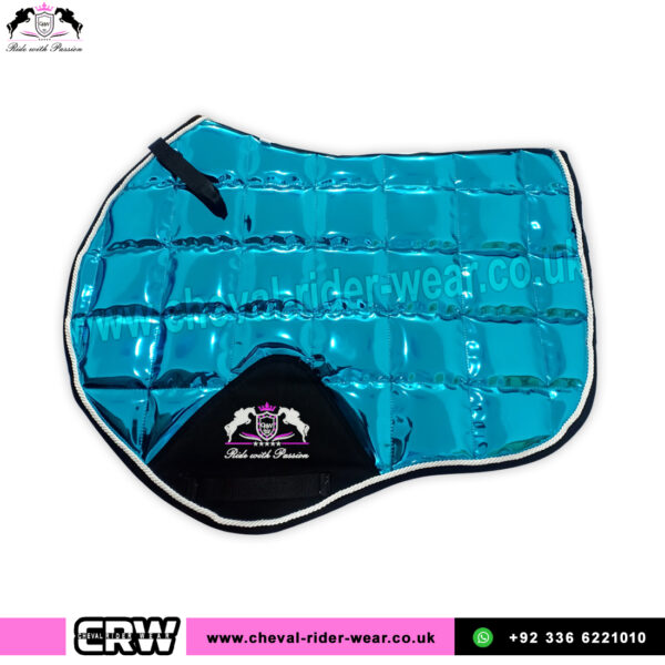 Turquoise Glossy Jumping Saddle Pads CRW-1988
